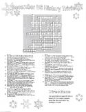 December US History Trivia Crossword