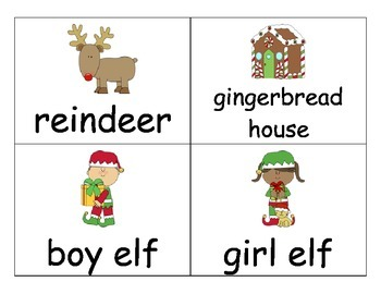 December Vocabulary Cards