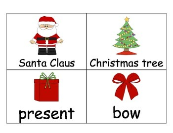 December Vocabulary Cards