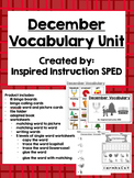 December Vocabulary Unit for Early Elementary or Students