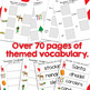 December Vocabulary Unit for Special Education