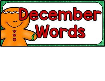 December Vocabulary Words