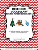 December Vocabulary for the Autism Classroom