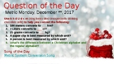 December Week 2 Question of the Day Bell Ringer