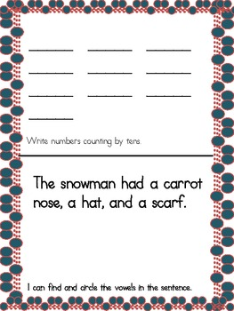 December Weekly Homework Common Core