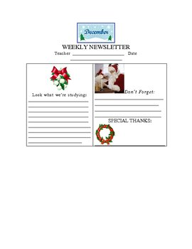 December Weekly Newsletter Template