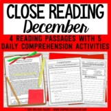 December Close Reading - Christmas & Hanukkah Reading Passages