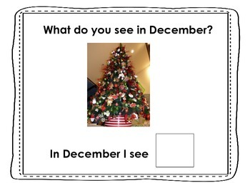 December, What Do You See? Matching and Sentence Completion Book for Vocabulary