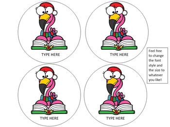 December | Winter Bulletin Board | Reading EDITABLE Flamingo Theme