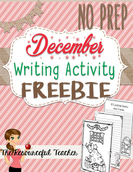 December Winter Holiday NO PREP Activities FREEBIE