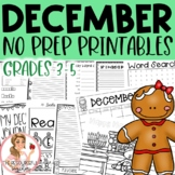 December Winter Holiday NO PREP Activities Packet 3rd-5th Grades