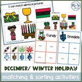 December / Winter Holidays Matching & Sorting Activities for Special Education