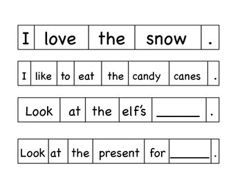 Kindergarten Winter Math and Literacy Station Center Activities