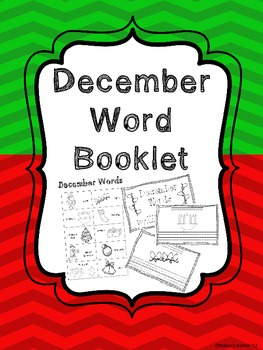 December Word Booklet and Coordinating Poster
