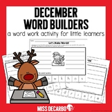 December Word Builders Word Work Activity