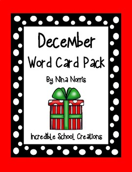 December Word Cards