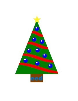 Word Family Christmas Tree Center Week 3 & 4 (eed, eat, ice, ide)