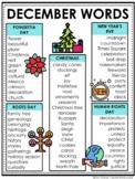 December Word Lists