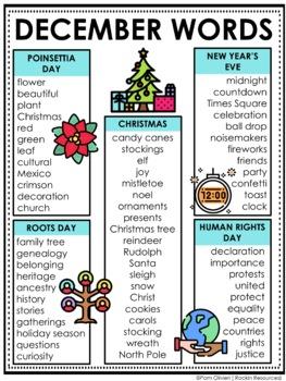 christmas word lists teaching resources teachers pay teachers