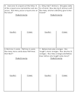 December Word Problem Assessment