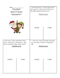 December Word Problem Assessment