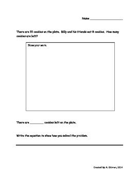 December Word Problems: Addition and Subtraction Problems with Numbers up to 20