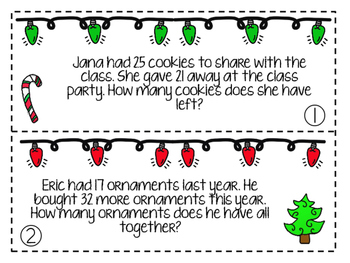 December Word Problems Freebie