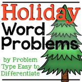 December Word Problems | Holiday Word Problems | Addition & Subtraction