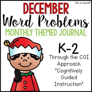 December Journal of 2nd Grade Word Problems CGI