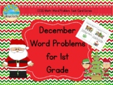 Christmas/December Word Problems for 1st Grade (TASK CARDS)