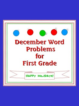 December Word Problems for First Graders