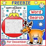 December Word Search FREEBIE!