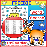 December Word Search FREEBIE!