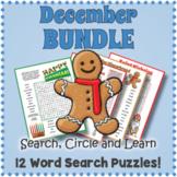 December Word Search BUNDLE