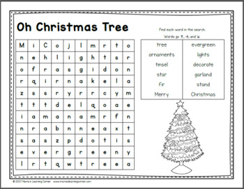 December Word Searches