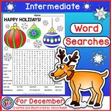 December Word Searches - Intermediate {Gr 4-7}