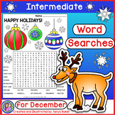 December Word Searches - Intermediate {Gr 4-7}