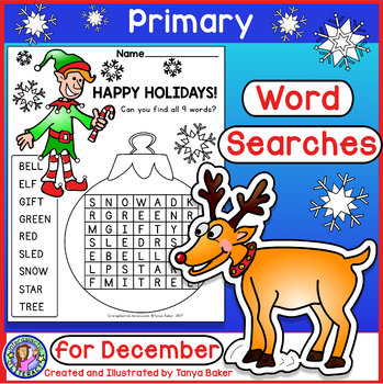 December Word Searches - Primary