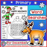 December Word Searches - Primary {Gr 1-3}