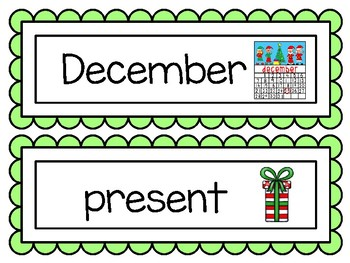 December Word Wall