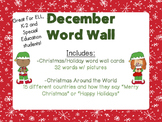 December Word Wall Cards