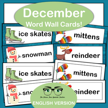 December Word Wall Cards {English Version}