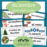 Spanish December Word Wall Cards