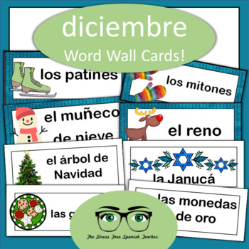 December Word Wall Cards {Spanish Version}