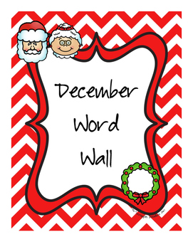 December Word Wall Words
