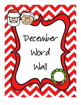 December Word Wall Words