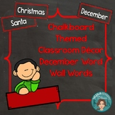 December Word Wall Words (Chalkboard Labels Decor Add On)