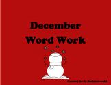 December Word Work Center