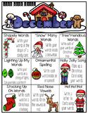 December Word Work Choice Board