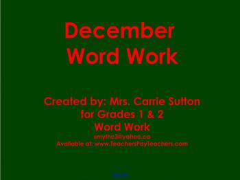 December Word Work: SMARTNotebook